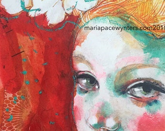 Awaken Your Love -Original mixed media painting by Maria Pace-Wynters