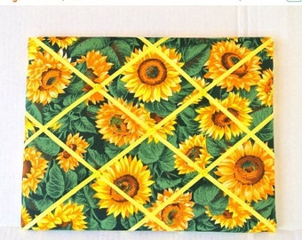 July 4th Sale Yellow Sunflowers Memory Board French Memo Board, Organizational Memo Board, Autumn Fall Decor, Christmas Gift, Gift for Her