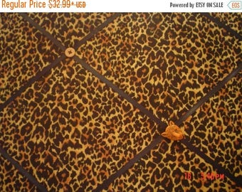 Eclipse Sale Cheetah  Memory Board French Memo Board, Fabric Pin Board, Ribbon Photo Board, Fabric Ribbon Bulletin Board, Bedroom Decor