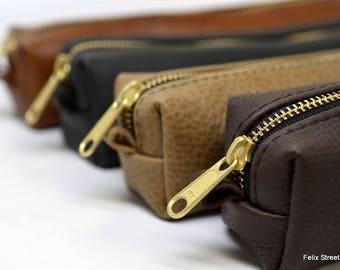 Leather Razor Case with Free Monogram