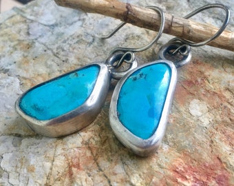 Sleeping Beauty Turquoise Earrings