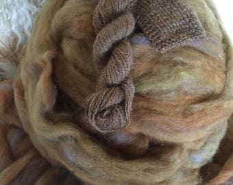 River Rocks -appx. 8 oz wool and mohair roving