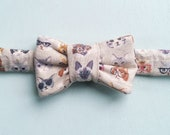 Cat Glasses Print Bow Tie for Cats