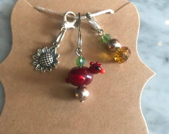 Progress keeper charm set stitch markers for knit crochet