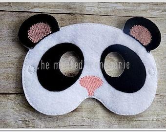 Panda Mask, Panda Bear Mask, Stocking Stuffers Party Favors Halloween Mask, Felt Mask, Mask Pretend Play Creative Play Masks, Felt Mask