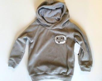 Gray camping hoodie