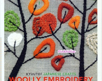 Cute Wool Embroidery -  English  Craft Book