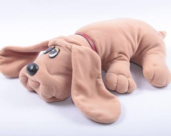 Brown Pound Puppy Dog, Stuffed Animal, Plush, Odor Free, Hound, Beige, Very Clean, Vintage Toy ~ The Pink Room ~ CC001