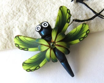 Green Dragonfly Needle Minder Sewing Notions, Magnetic Brooch