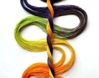 "Size 80 ""Spooky"" hand dyed thread 6 cord cordonnet tatting crochet cotton"