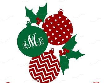 Ornament Monogram, Ornament, Monogram, Vinyl Decal, Digital Cut File, Vinyl Cutting File, SVG, DXF, EPS, Silhouette, Studio.Studio 3, Cricut