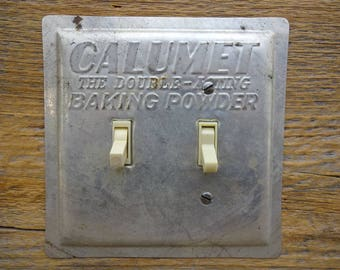 Kitchen Lighting Switch Plate Made From Calumet Baking Powder Pan Pans  Switchplates Match Stainless Steel Appliances