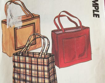 McCall's TOTE bag pattern shopping bag school easy uncut sewing teacher gifts