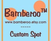 Custom Spot for Bamberoo wrap conversion/Canvas SSC or Bamberoo Breeze baby carrier Starting at 225.00