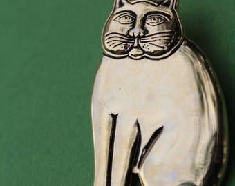 VINTAGE Laurel Burch CAT brooch and pendant COMBO