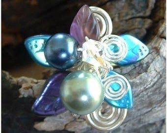 ON SALE Moonlight Blue Fairy Bower Ring