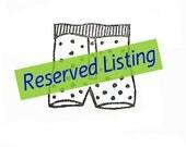 RESERVED - custom listing for Kelly Prikaszczikow