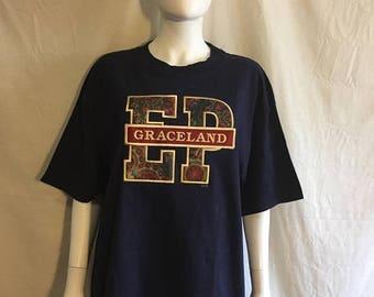 Closing Shop 40%off SALE Elvis Presley Graceland Souvenir Tourist t shirt size Large
