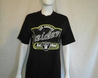 Closing Shop 40%off SALE Los Angeles RAIDERS football vintage t shirt