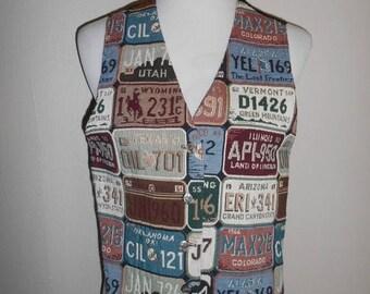 Closing Shop 40%off SALE License Plate  Vintage Vest