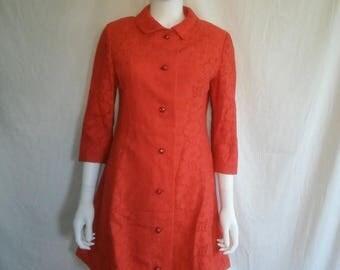 Closing Shop 40%off SALE 60's Vintage Mod Floral Dress