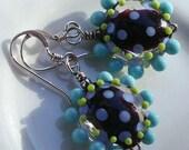Handmade Glass Lampwork Earrings