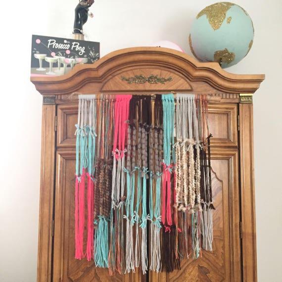 Brightly Colored Yarn Wall Hanging