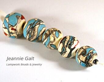 Lampwork  Art Beads by Jeanniesbeads #2318