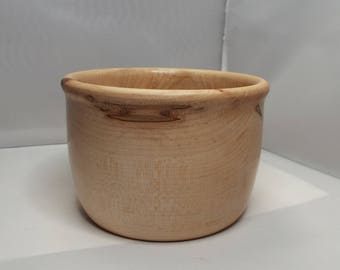 knitting bowl, Ambrosia Maple, wooden bowl, turned bowl, threadsthrutime, thomas-creations,