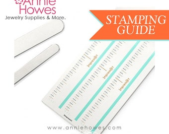 Metal Jewelry Stamping Guides Templates for Stamping Bracelets Stamping Metal Spacing Guide Stamping Template