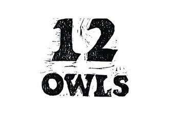 12 Owls Coloring/Keepsake Book SIGNED