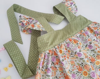 Girls Dress, Flower Dress, Handmade Dress