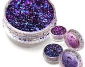 """Holographic Metallic Foil Art Pigments  """"Royal Violet"""" Lumiere Lusters"""