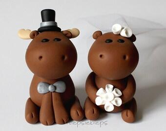 Custom Moose Wedding Cake Topper