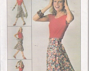 Simplicity 7876 Womens Wrap Skirt Easy Sewing Pattern Plus Sizes 18-20 Out of Print UNCUT