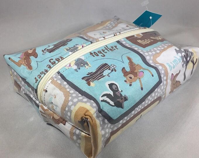 Make Up Bag - Bambi and Friends Box Shaped Cosmetic Bag