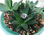 Flora Signet Ring in Sterling Silver