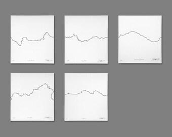 Borders - Letterpress Conceptual Prints