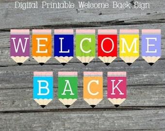 Welcome Back Printable Banner| Back to school Sign | Teacher Welcome | Teacher Appreciation | Digital Download | Instant Download