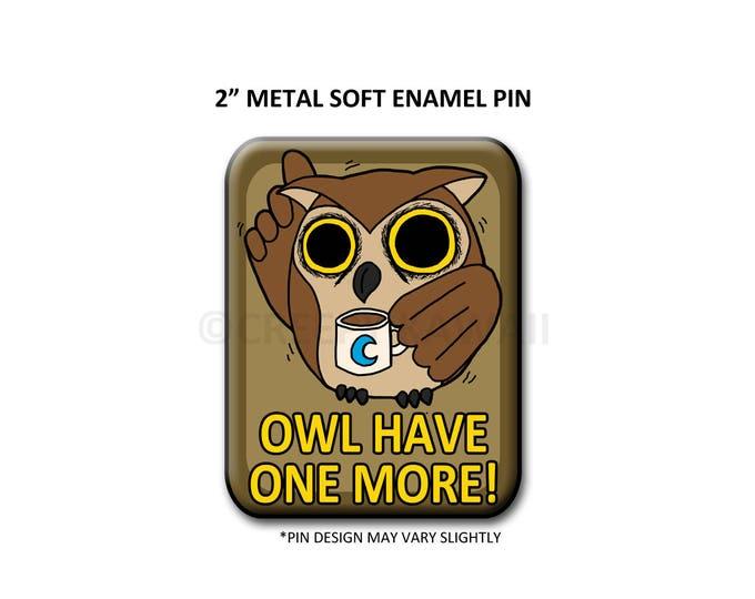 "2"" Soft Enamel Edgar the Night Owl Pin"