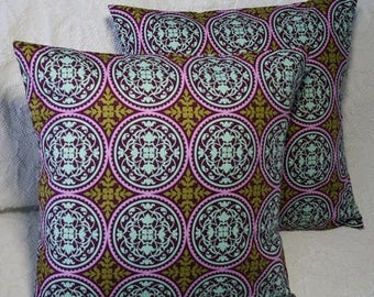 """20% OFF SALE 16x16 Pillow Cover 16"""" Modern Geometric Lilac Ironwork Scrollwork Throw Pillow Cover Joel Dewberry Aviary 2 (#88*)"""