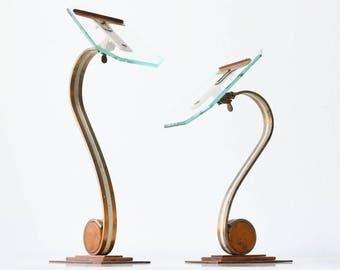 Vintage Art Deco Shoe Display Stands, Set of 2