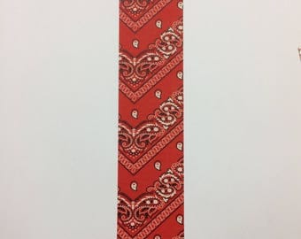 Bookmarks - duck duct tape - red bandanna