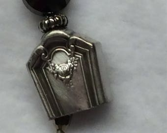 Knife handle bell necklace, silverware jewelry .