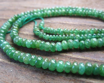 Emerald Beads smooth graduated aaa quality stone beads complete strand