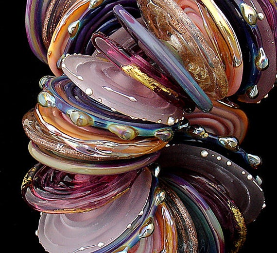 DSG Beads ~Artisan Debbie Sanders Handmade Lampwork Glass Beads~Over The Rainbow~Made To Order