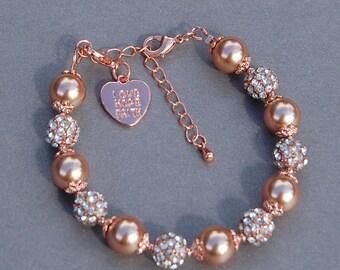Love Hope Faith,  Rose Gold Bracelet, Love Jewelry, Faith Jewelry, Religious Bracelet, Christian Jewelry, Hope Gift, Christian Gift