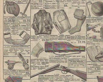 Vintage 1920s French store Au Bon Marché catalog 1 double page