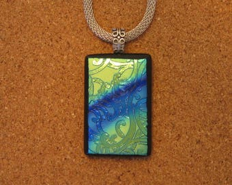 Dichroic Glass Pendant - Dichroic Jewelry - Fused Glass Pendant - Fused Glass Jewelry - Dichroic Necklace - Fused Glass Necklace