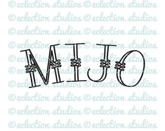 Baby Boy SVG, MIJO, word art, cut file for silhouette or cricut, spanish word, newborn svg, first birthday svg, my son, dxf, jpg, eps, png